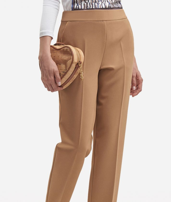 Pantalone basic in cavallery stretch Beige