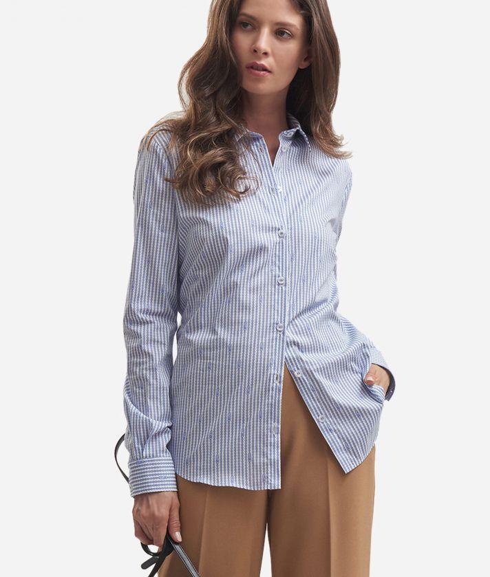 Camicia ufficio in popeline di cotone