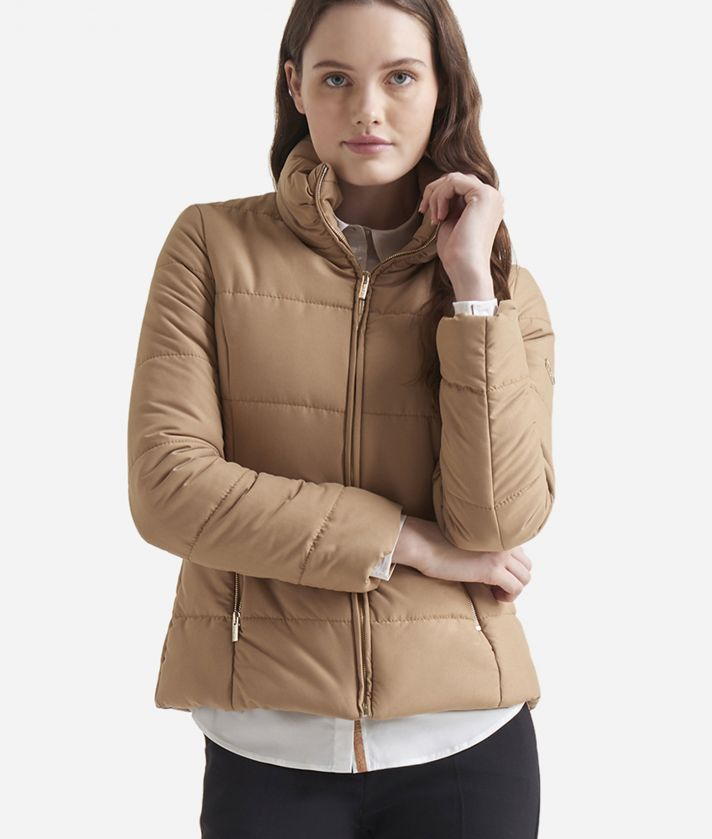 Basic padded jacket Camel