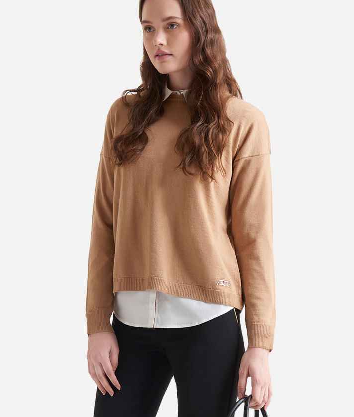 Wool blend sweater Beige