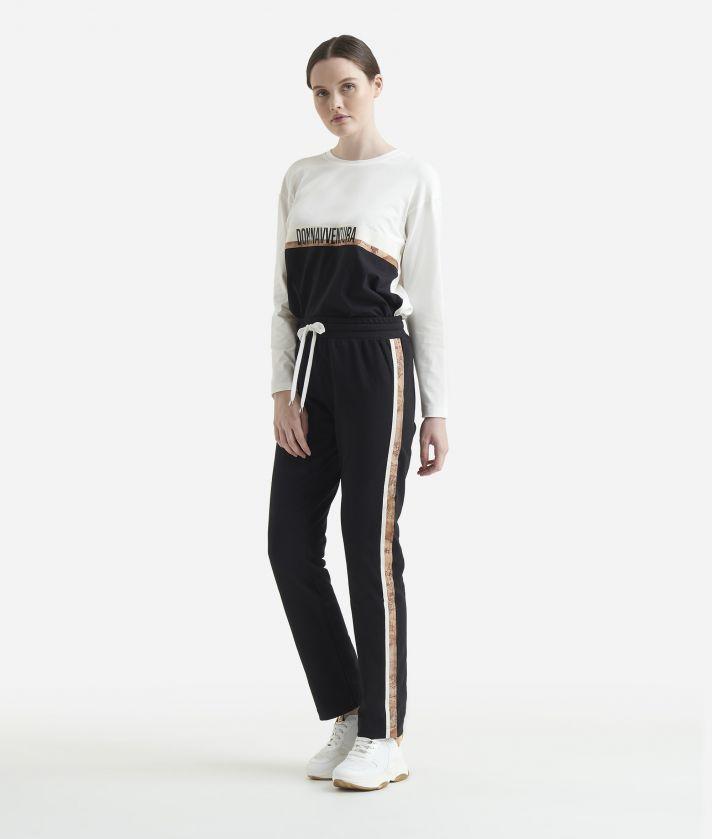 Pantalone basic in felpa Nero