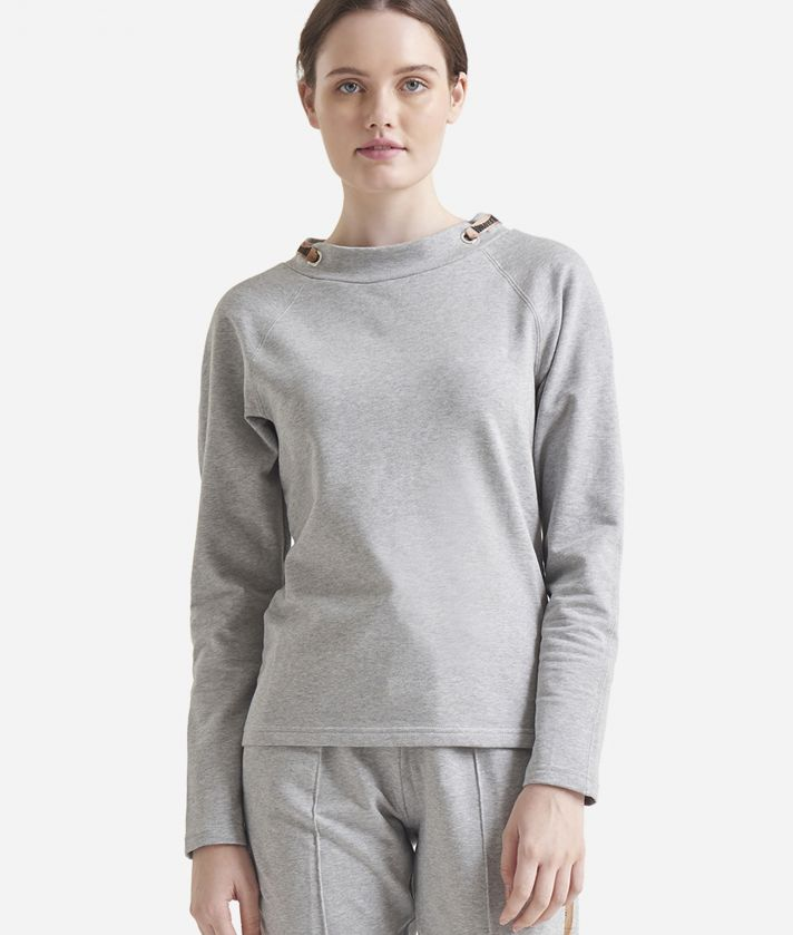 Fleece sweatshirt Grey