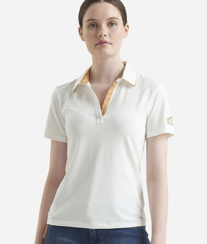 Short sleeves polo White