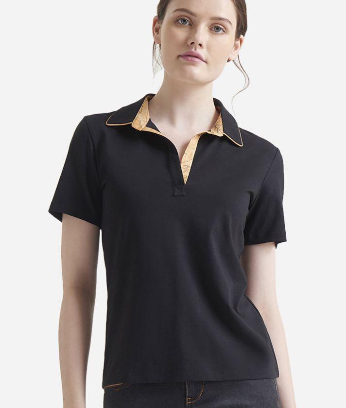 Short sleeves polo Black
