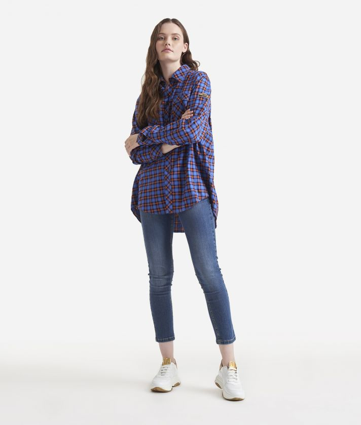 Cotton oversized shirt Blue