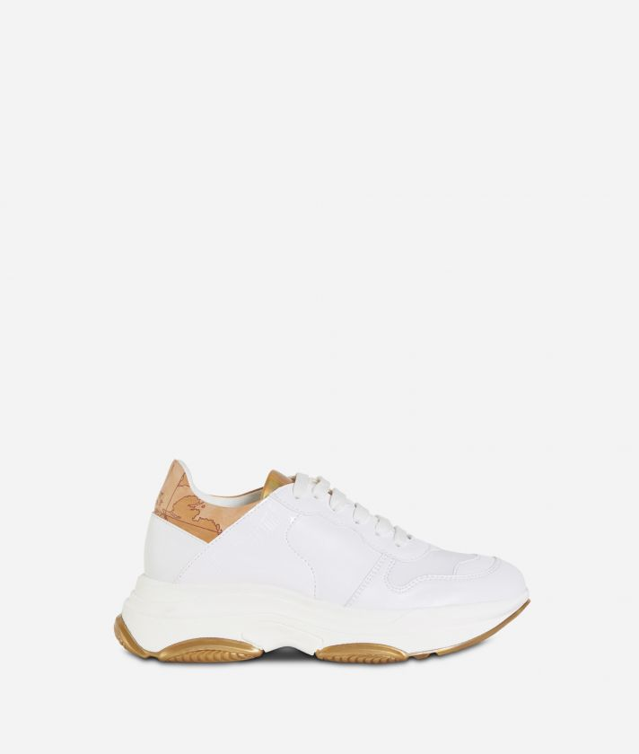 Donnavventura eco-leather running sneakers White