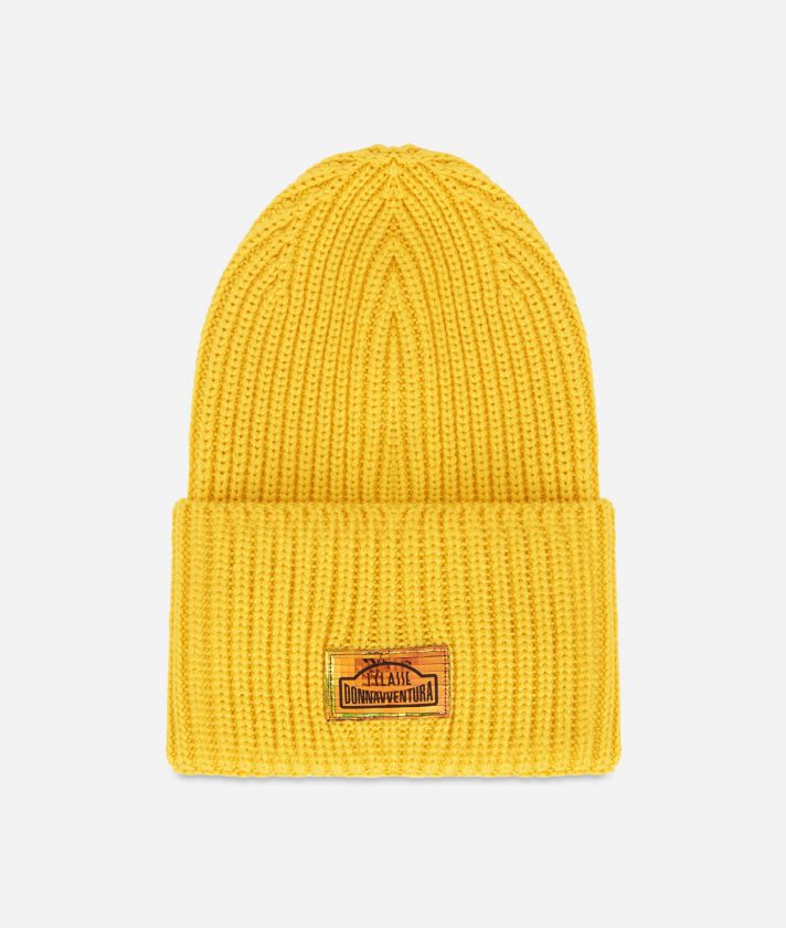 Wool blend beanie Yellow