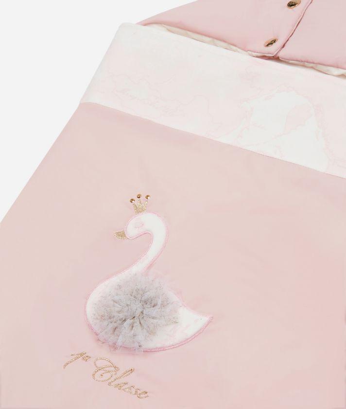 Baby footmuff Swan