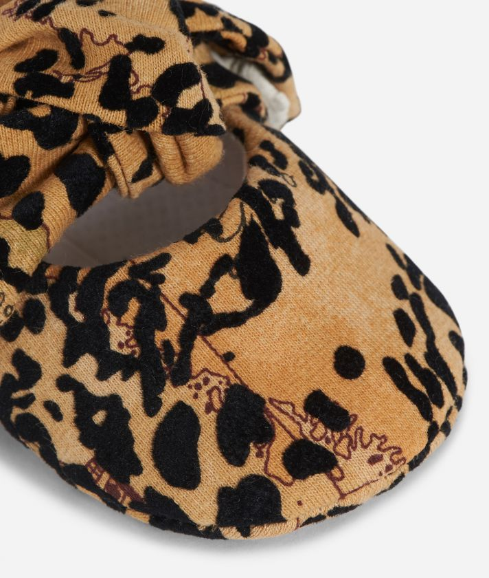 Cotton baby ballet flats Geo Classic animalier