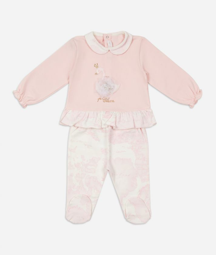Baby clothing set swan