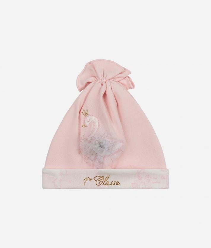 Cappellino neonato Cigno