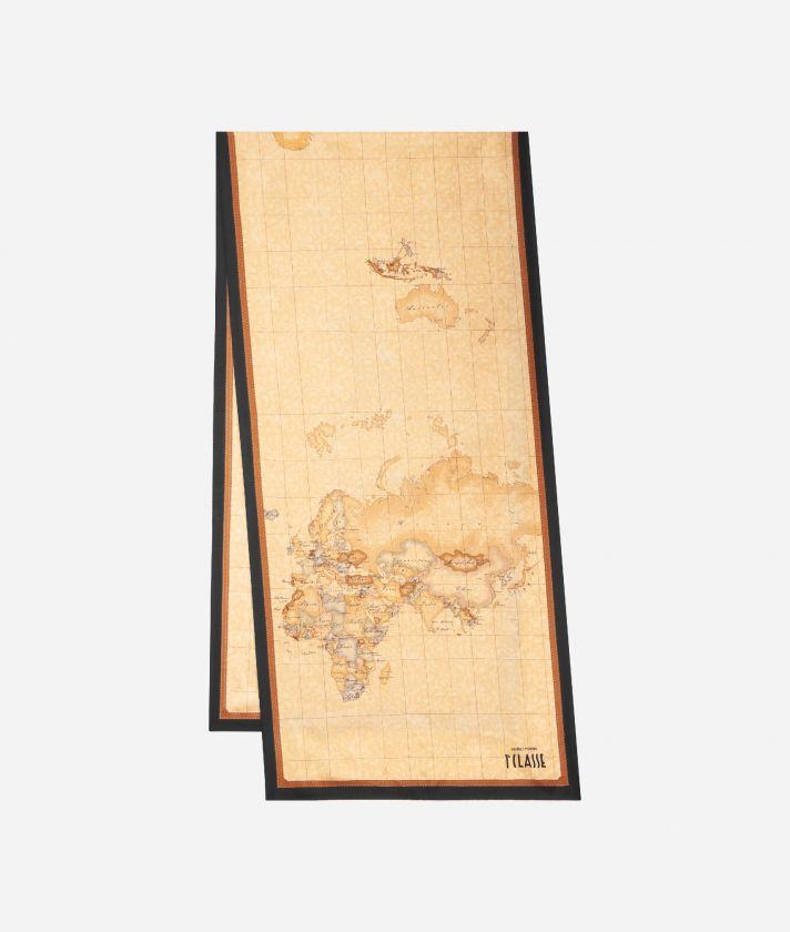 Geo Classic print foulard 45 x 180 Black