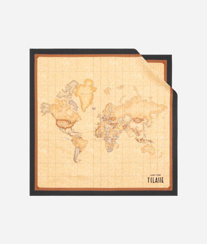Geo Classic print foulard 50 x 50 Black