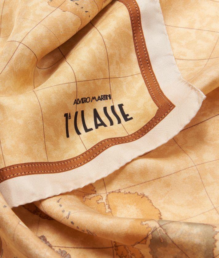 Geo Classic print foulard 70 x 70 Beige