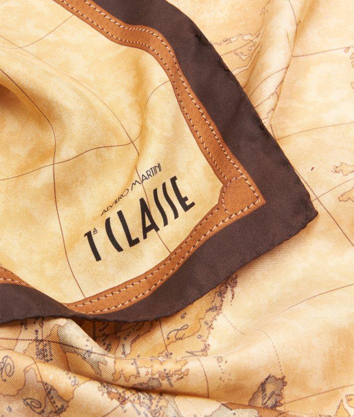 Geo Classic print foulard 90 x 90 Brown