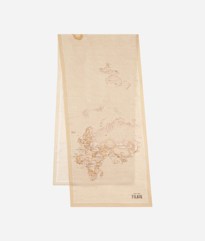 New Geo Color print foulard 45 x 180 Beige