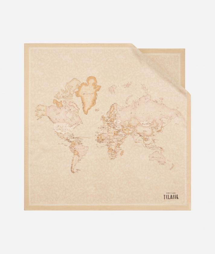 Foulard New Geo Color 70 x 70 Beige