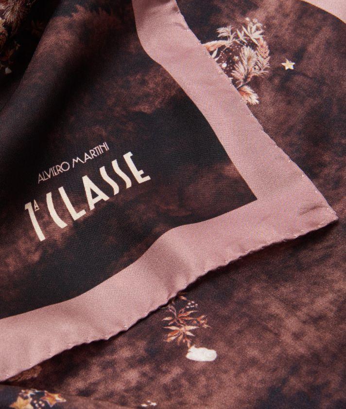 Magic Forest print foulard 70 x 70 Bordeaux