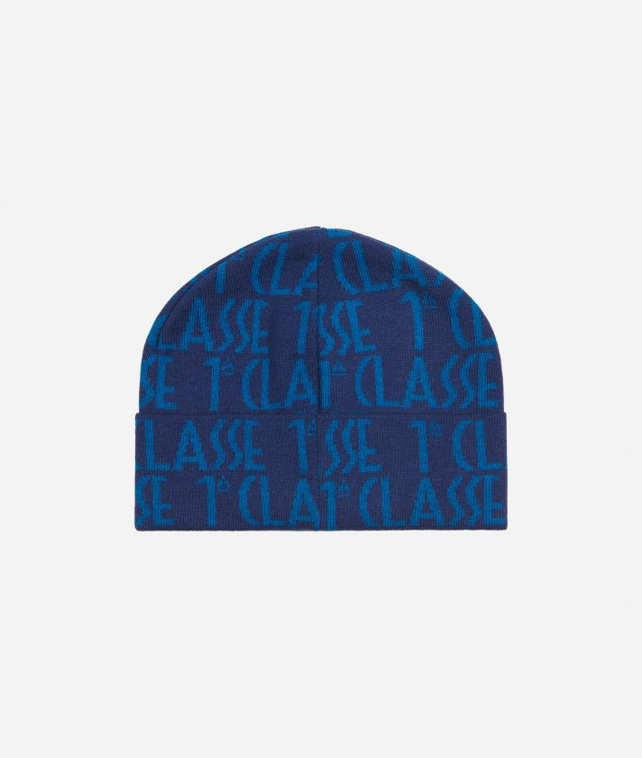 Cappello Logo All-over Blu