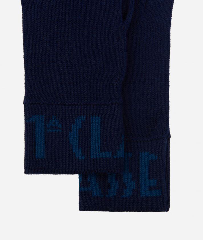 Guanti con logo Blu