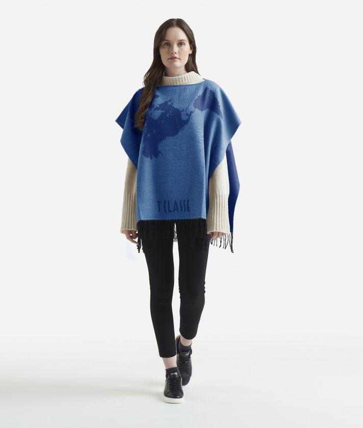 Geo Pieno Poncho75 x 150 Blue