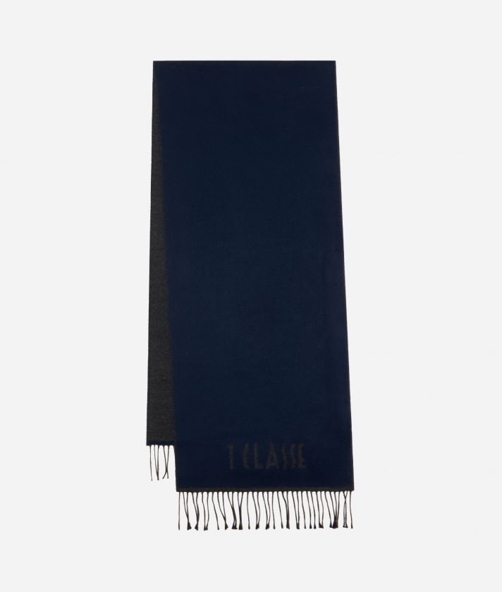 Plain Colour 1AClasse logo scarf38 x 180 Blue