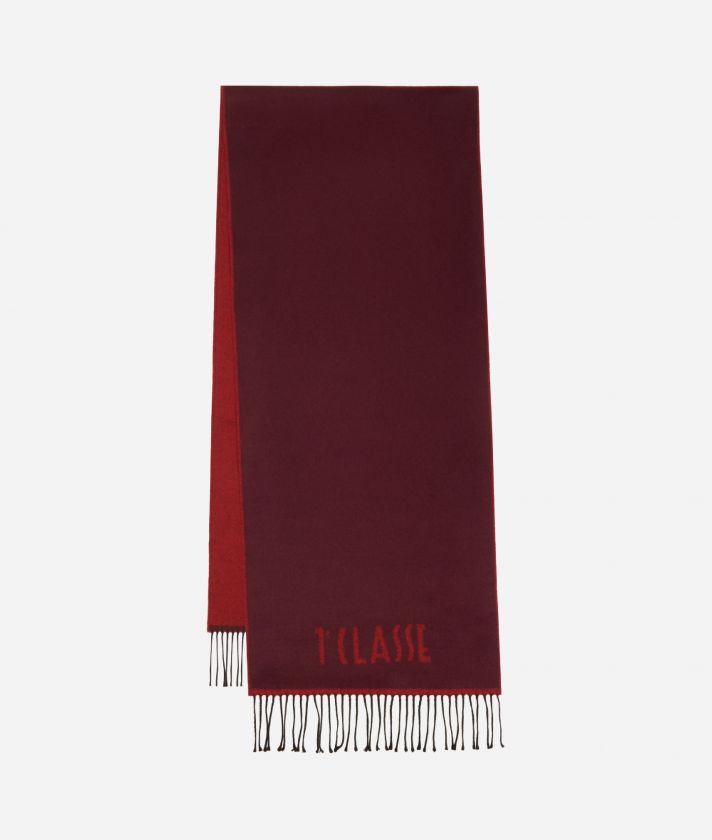Plain Colour 1AClasse logo scarf38 x 180 Bordeaux