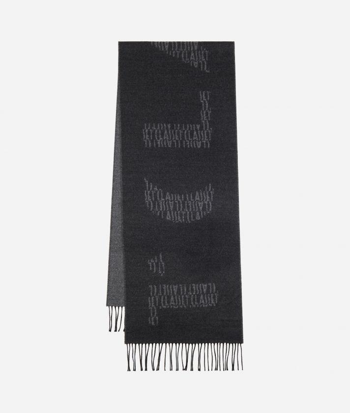 Maxi Logo1AClasse logo scarf40 x 200 Grey