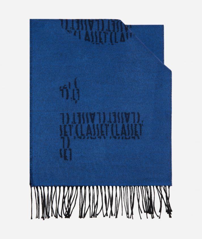 Maxi Logo1AClasse logo scarf40 x 200 Blue