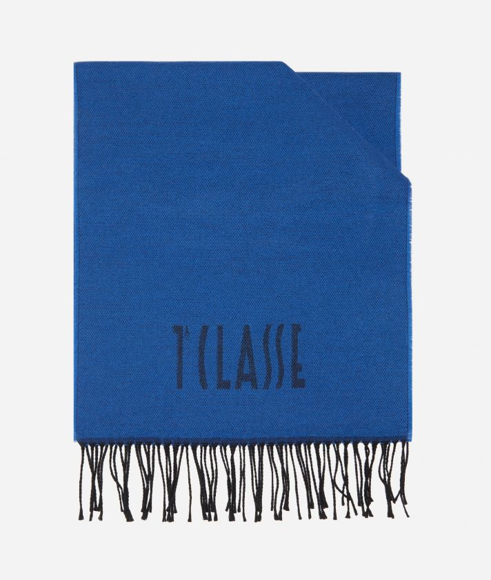 Sciarpa Geo Filetto 38 x 180 Blu