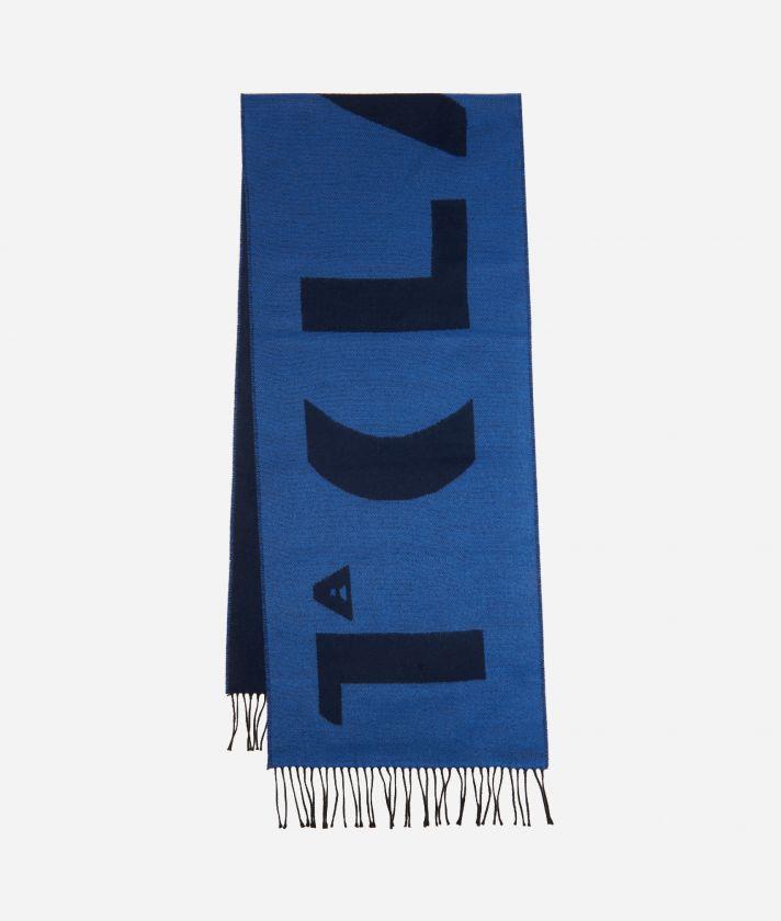 Sciarpa Maxi Logo 38 x 180 Blu