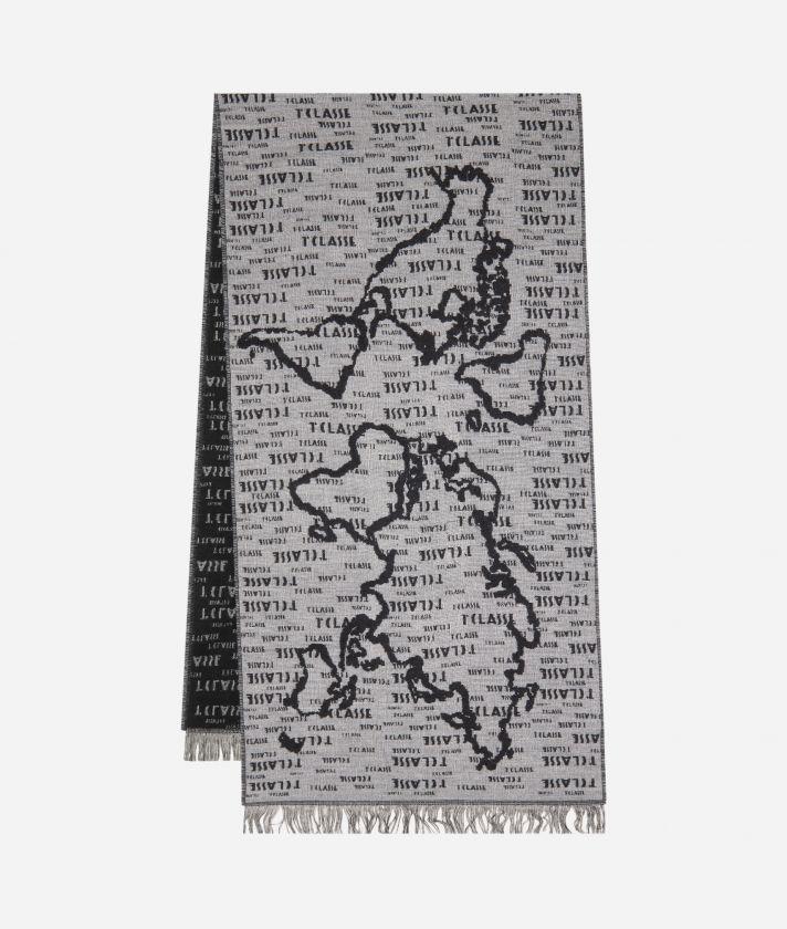 Geo Pieno scarf45 x 175 Grey