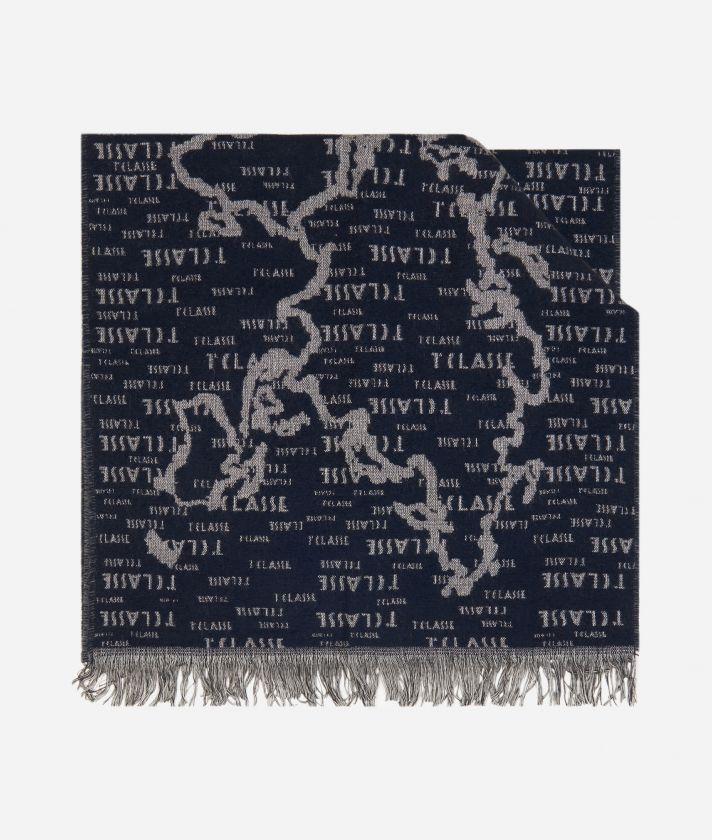 Geo Pieno scarf45 x 175 Blue