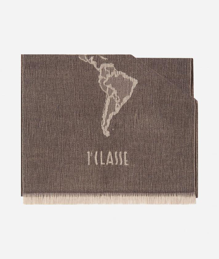 Maxi sciarpa Geo Pieno 55 x 180 Marrone
