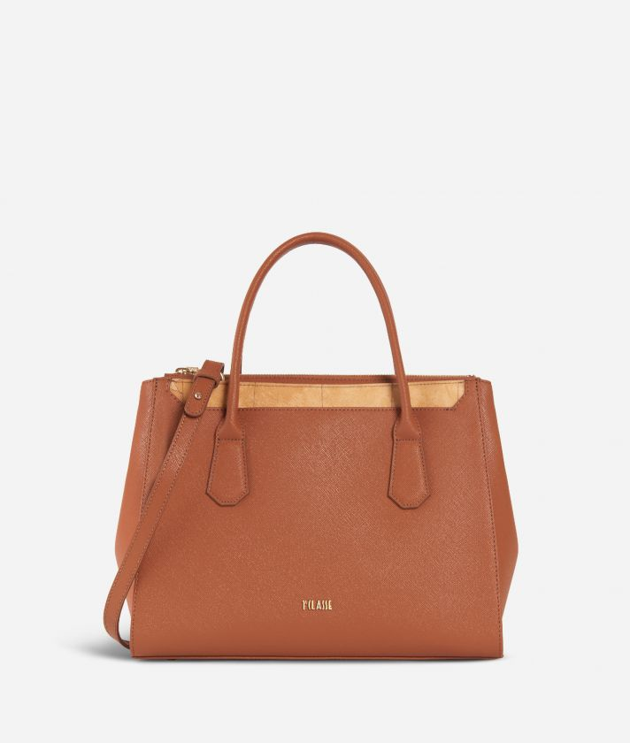 Sky City Medium Handbag  Walnut