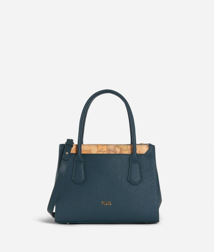 Sky City Small Handbag Teal