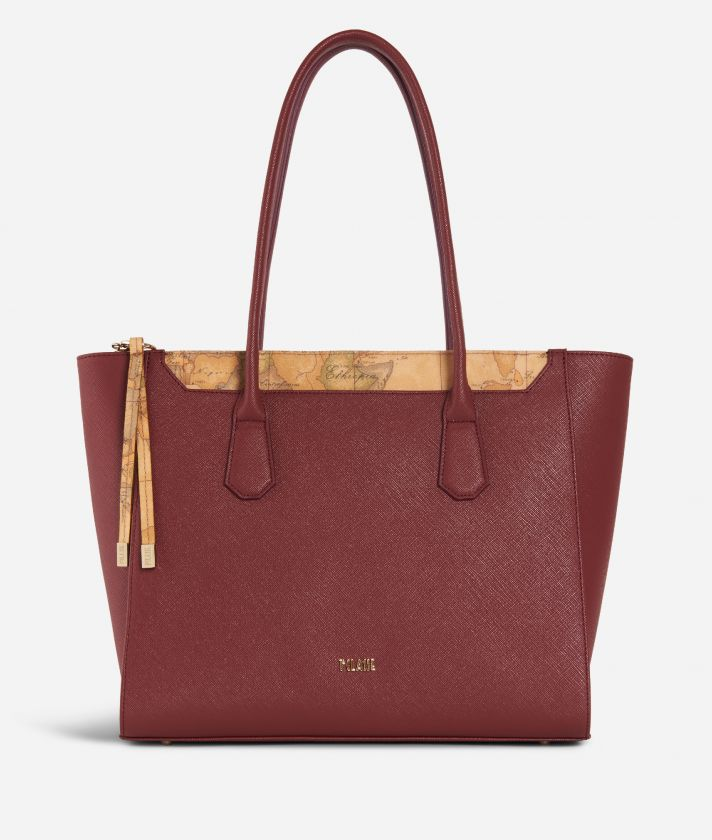 Sky City Shopping Bag Geo Classic Cabernet