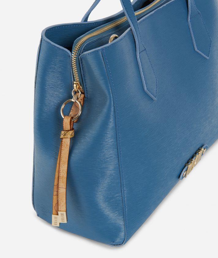 Winter Smile Medium Handbag Blue