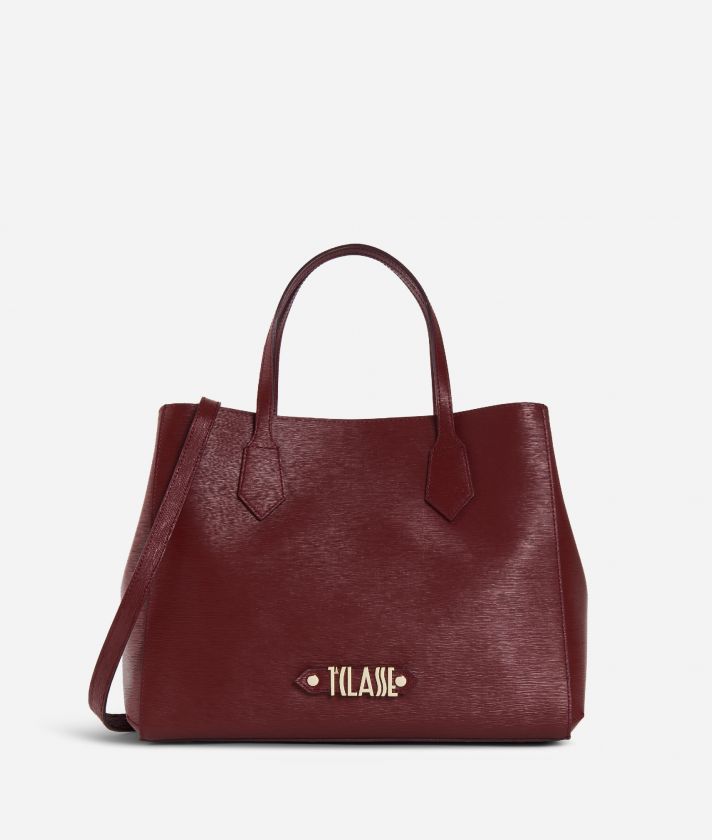 Winter Smile Medium Handbag Cabernet