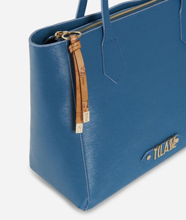 Winter Smile Shopping bag Blue
