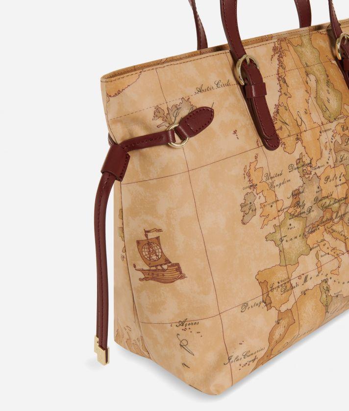 Soft Wood Geo Classic Handbag Cabernet
