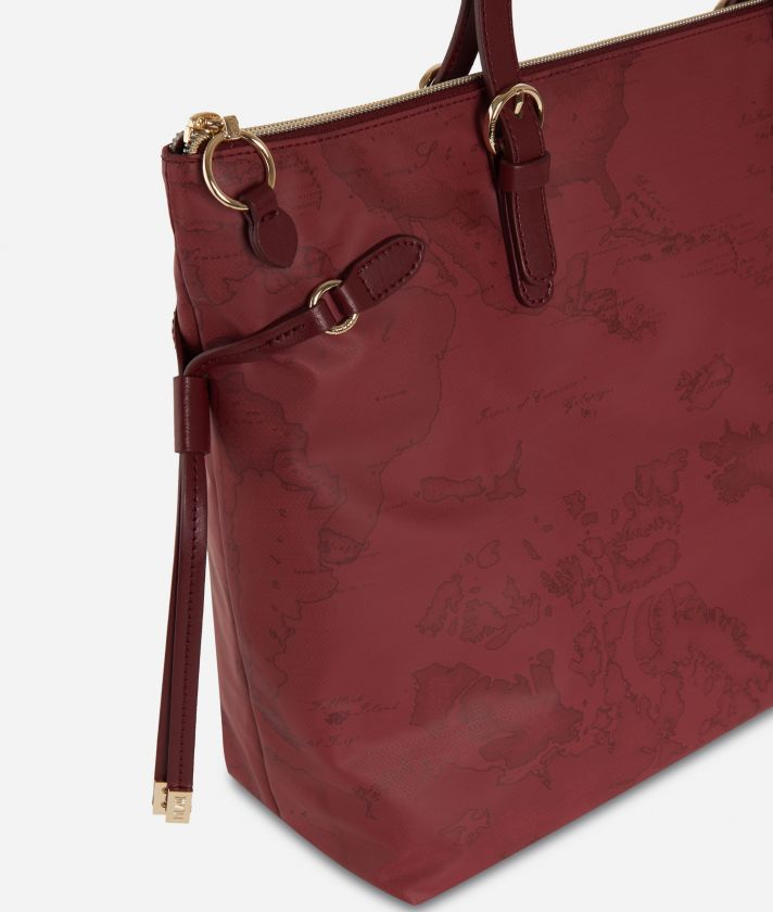 Soft Wood Geo Bordeaux Shopping bag Cabernet