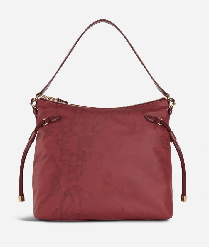 Soft Wood Geo Bordeaux Hobo bag Cabernet