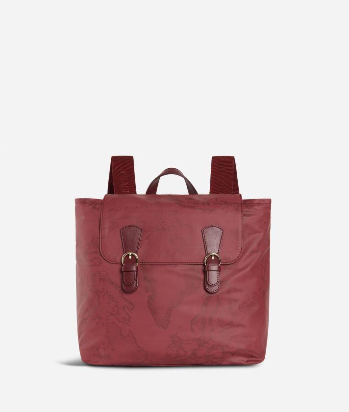 Soft Wood Geo Bordeaux Backpack Cabernet