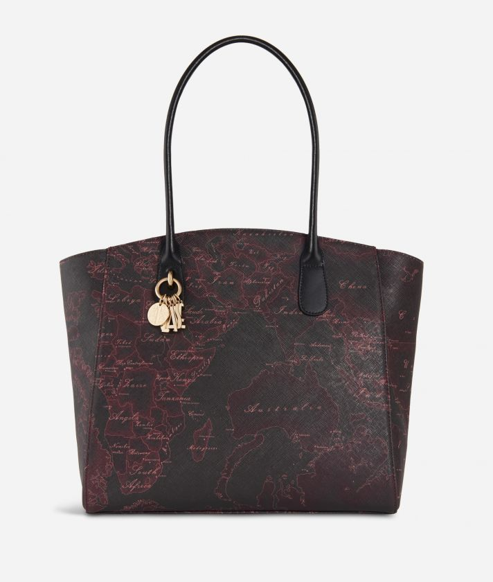 Geo Rosewood Shopping bag  Cabernet