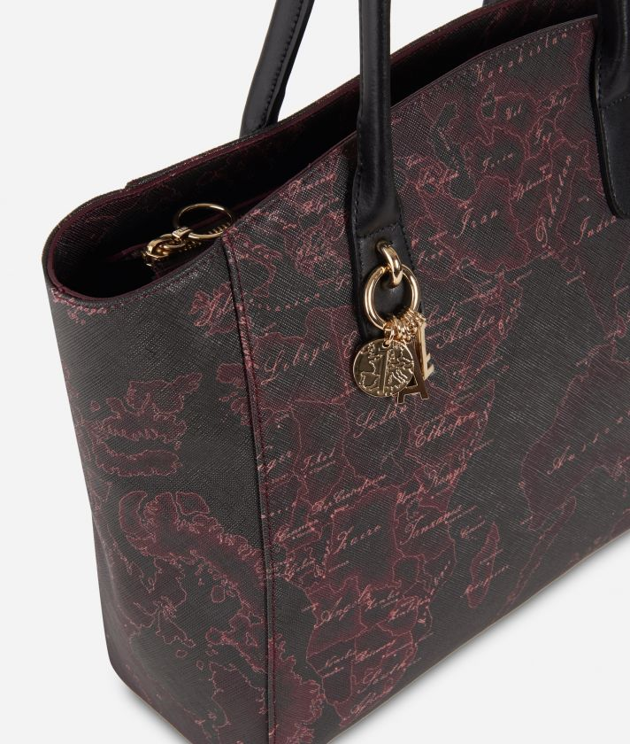 Geo Rosewood Shopping bag Bordeaux