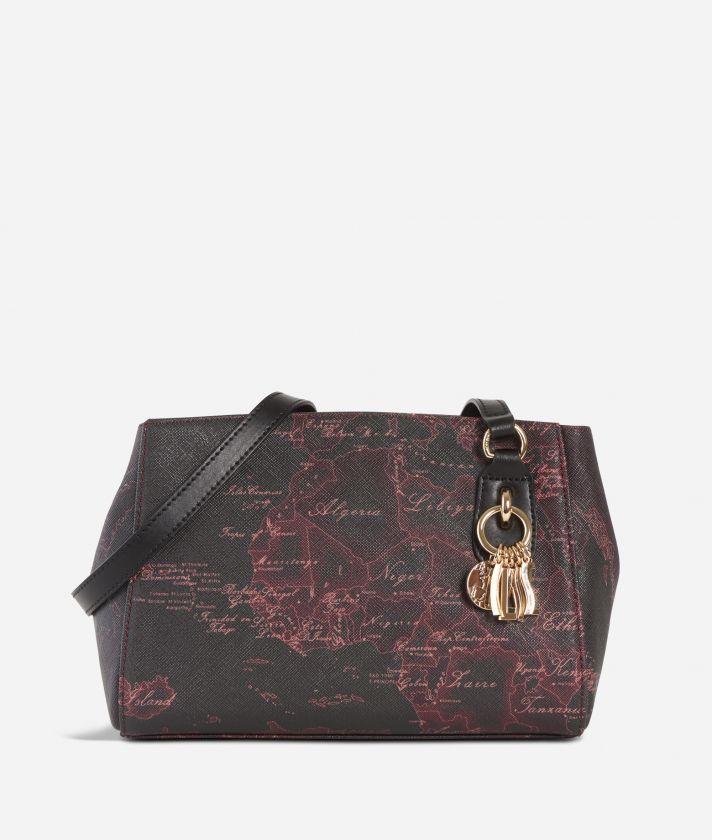 Geo Rosewood Crossbody Bag Cabernet