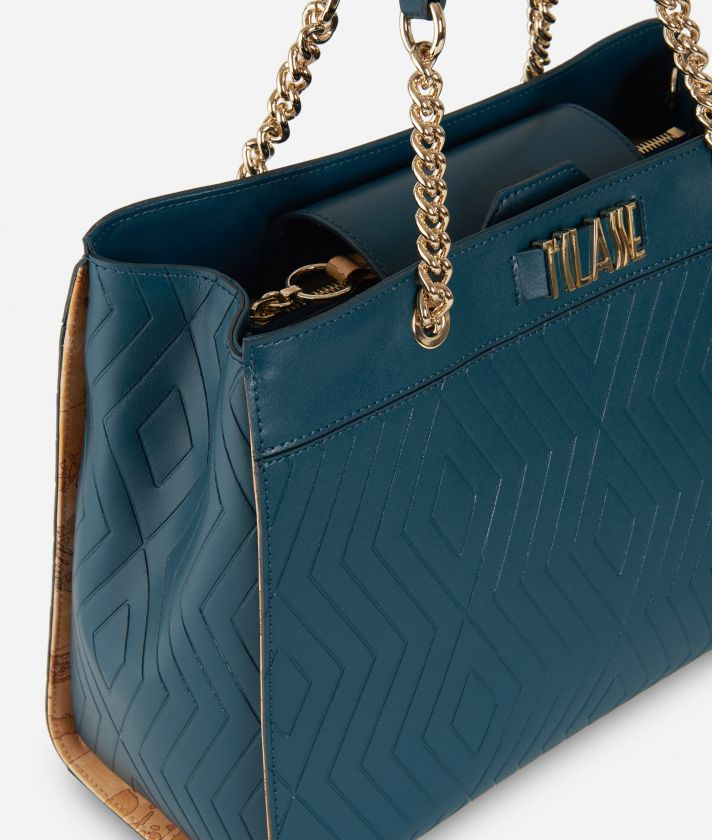 Starlight Line Medium Handbag  Teal
