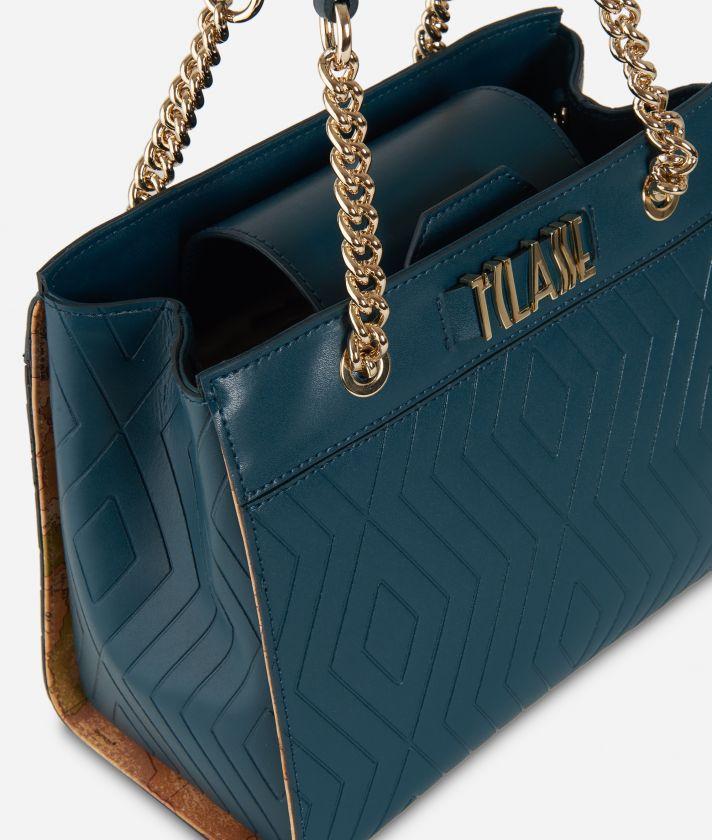 Starlight Line Small Handbag Teal