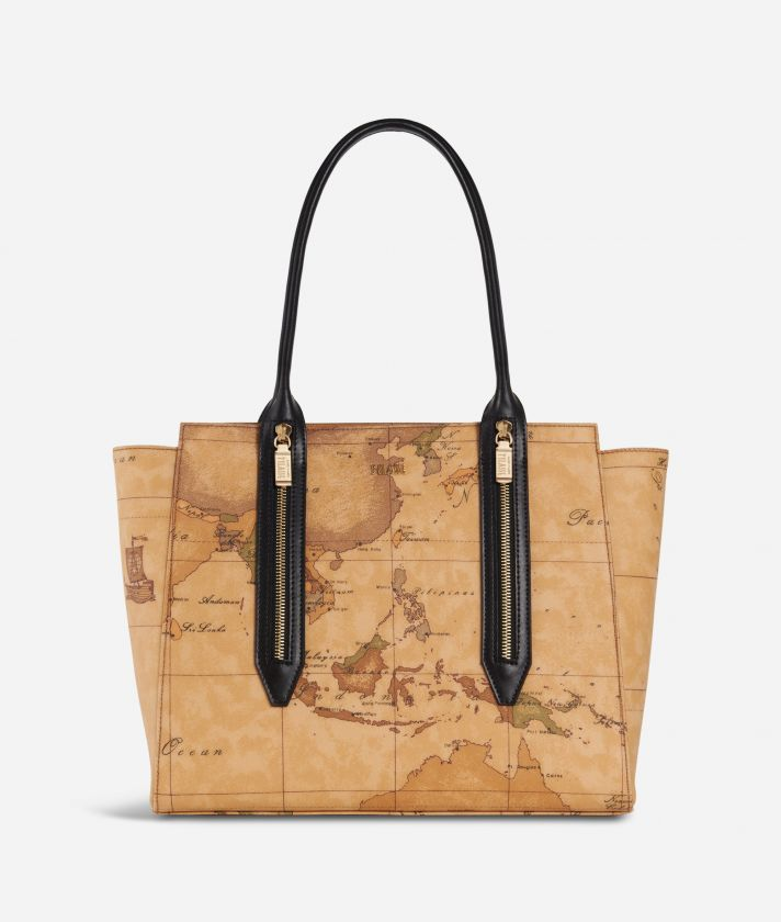 Autumn Geo Shopping bag Nera